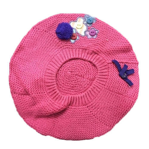 9dd38ef4 Kids Pink Woolen Knitted Cap at Rs 200 /piece | Sector 2 | Noida ...