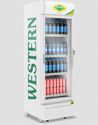 Off White Western Single Door Visi Cooler Src350