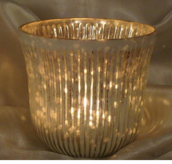 Decorated Candle Votive Holder