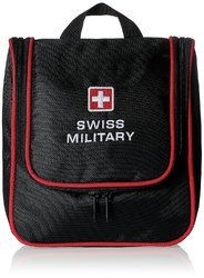 Swiss Military Polyester Black And Red Toiletry Kit (tb-1)