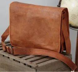 blue,brown Handmade Leather Laptop Bad