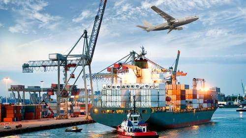 Export And Import Movements Sea Freight Forwarding, By Sea And By Air
