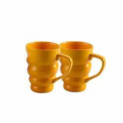 Ceramic Spiral Coffee Mug