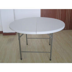 Round Plastic Folding Table for Event Use