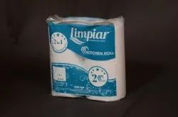 Limpiar White 2 in 1 Kitchen Paper Roll, Size: 23 X 20 Cm