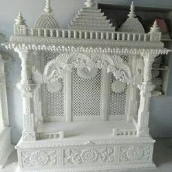 White Jali Wall Marble Temple