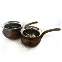 Smokey Finished Biryani Handi with Pan Handles
