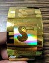 Gold Color Custom 3D Holographic Stamping Foils