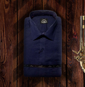 Blue Mens Blue Formal Shirt