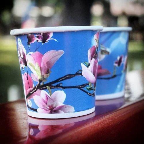 Floral Printed Paper Cup
