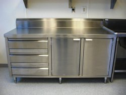 Stainless Steel Table With Cabinet