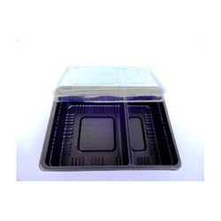 2 Section Disposable Food Tray