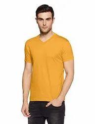 Men Casual Wear Round Neck Plain Cotton T-shirts, Quantity Per Pack: 1