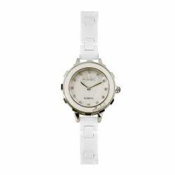 White Women Ceramic Watch
