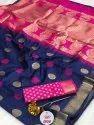 Beautiful Soft And Silky Litchi Silk Saree