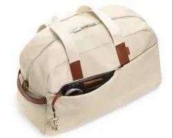 White ARLCAN-02 Waxed Canvas Travel Bag, Size/Dimension: 23x12x10 Inches