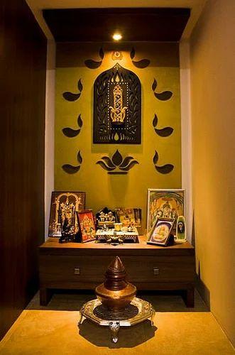 Mandir Design For Home Mandir Design With Mdf Back Panel Service