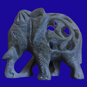 Soapstone Carving Elephant Statue