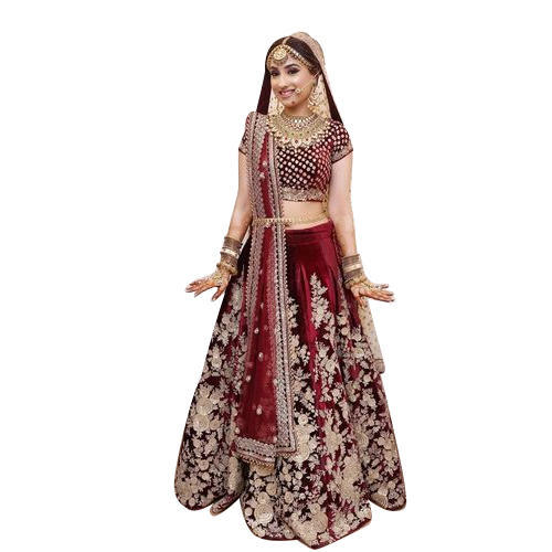4c768e20b0 Medium & Large Velvet And Net Bridal Lehenga, Rs 100000 /piece | ID ...