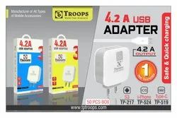 Troops  TP-217 4.2 AMP 3 USB Adapter