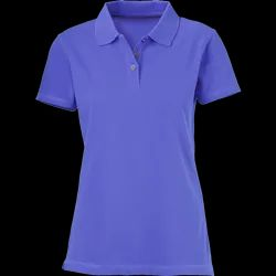 Women Plain Polo T Shirt