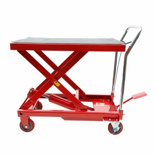 Hydraulic Hand Lift Trolley Hydraulic Lift Trolley, Capacity: 300kg, Wheel