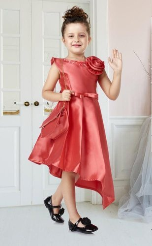 8878da789e25b Kids Dress Beautiful Designer Rouge Paper Silk Kids Party Wear Frock ...