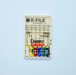 Metal Dental K Files, Model Name/Number: K File, for Clinic, Hospital