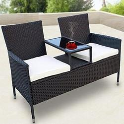 Luxury Wicker Outdoor Garden Bench