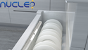 Aluminium Nucleo 300mm Led Cabinet Light (battery Operated), 1w