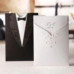 Multicolour Cardboard, Paper Wedding Cards