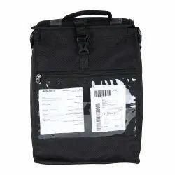 Polyester Pvc Coated Black Food Delivery Bag, Bag Size: 16* 12 *10