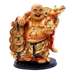 Vastu Feng Shui Golden Laughing Buddha