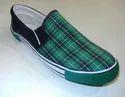 Canvas Green Checks Rubber Shoes