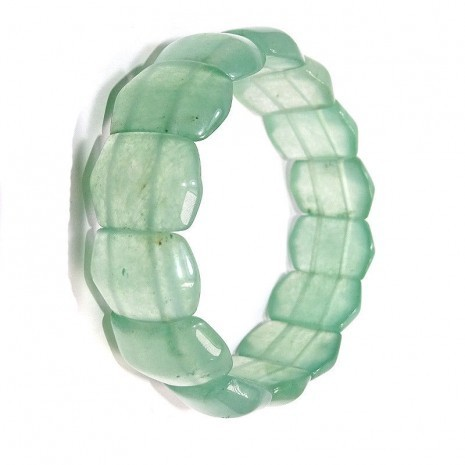 Srak Natural Green Jade Stone Bracelet