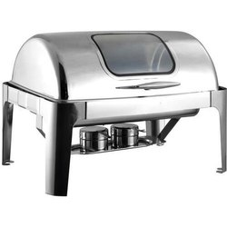Steel Falcon Rectangular Roll Top Chafing Dish, Capacity: 6l
