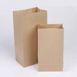 Camedine Brown Square bottom Grocery Bag