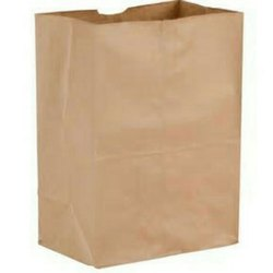 Brown Plain Kraft Paper Carry Bag for Grocery