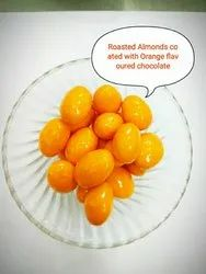 Roasted Almond Coated With Orange Flavored Chocolate