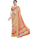 Crepe Party Wear Modern Printed Saree, 5.5 M (separate Blouse Piece)