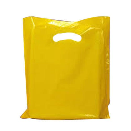 Plain Yellow LDPE Plastic Poly Bag, for Grocery, Capacity: 500-1000g