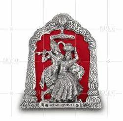 Silver Plated Radha Krishna Photo Frame
