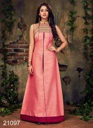 Designer Long Silk Kurtis