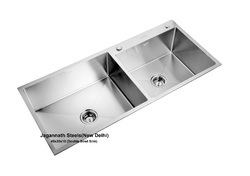 JNS Double 304 Grade Stainless Steel Sink, 45x20x10