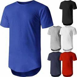 V-Neck Half Sleeves Solid Tee Shirt