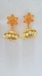 Golden Jhumki Jewelery