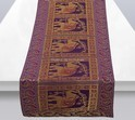Purple Brocade Elephant Table Runner
