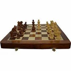 14 Travel Folding Sheesham Wood Chess Set