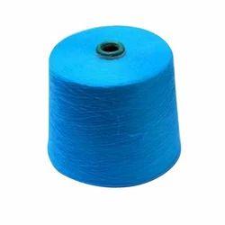 Blue Polyester Spandex Sock Yarn