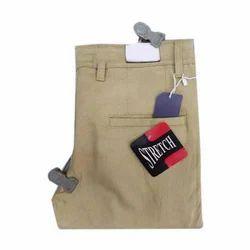 Men's Cotton Brown Casual Pant, Size: 28 - 36